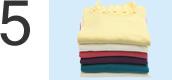 i-Laundry(アイ・ランドリー)タッフが手でたたみます。